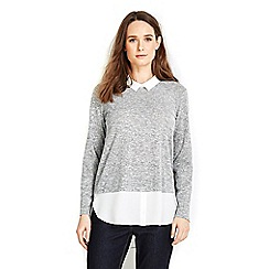 Wallis - Petite grey 2in1 shirt