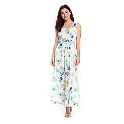 Wallis - Petite blue floral maxi dress