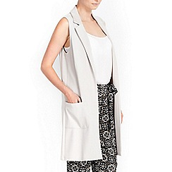 Wallis - Petite stone sleeveless jacket