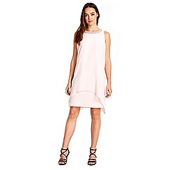 Wallis - Petite pale pink embellished 2in1 dress