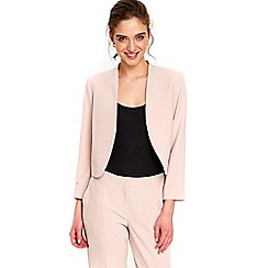 Wallis - Petite blush cropped blazer jacket
