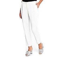 Wallis - Petite ivory slim leg trouser