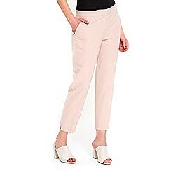 Wallis - Petite pale pink slim leg trouser