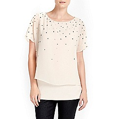 Wallis - Petite pink overlayer top