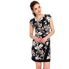 Wallis - Petite palm print wrap dress