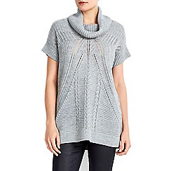 Wallis - Petite grey stitch tabard