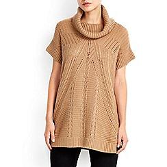 Wallis - Petite camel stitch tabard