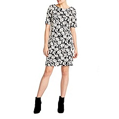 Wallis - Petite floral jacquard dress