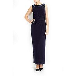 Wallis - Petite navy necklace maxi dress