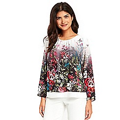 Wallis - Petite floral long sleeves top