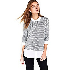 Wallis - Grey layered petite top