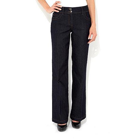 Wallis - Navy petite wide leg jean