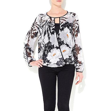 Wallis - Black oriental print petite blouse