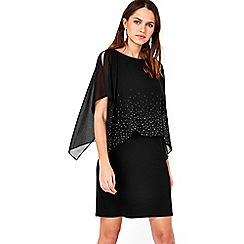 Wallis - Petite black overlayer dress
