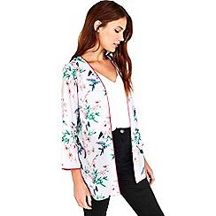 Wallis - Petite grey floral jacket