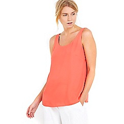 Wallis - Petite orange round neck camisole top