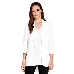 Wallis - Petite ivory tailored blazer