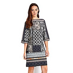 Wallis - Petite patchwork cold shoulder dress
