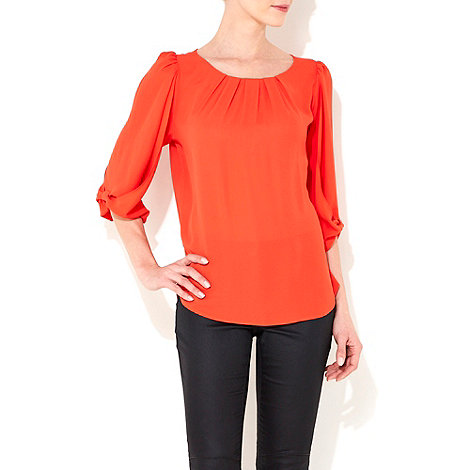 Wallis - Coral bow sleeve petite blouse