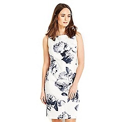 Wallis - Petite monochrome floral shift dress