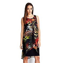 Wallis - Petite palm print 2in1 dress