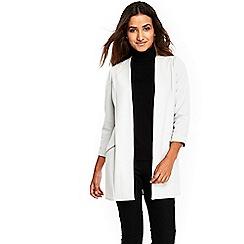 Wallis - Petite silver longline scuba jacket