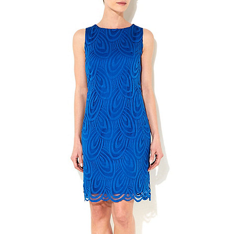 Wallis - Blue lace petite shift dress