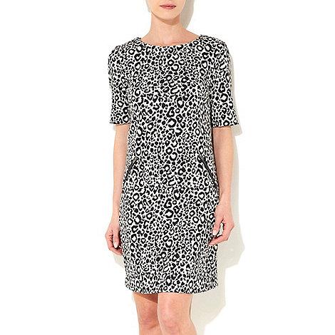 Wallis - Cream petite animal dress