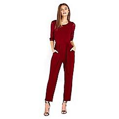 Wallis - Petite berry lace jumpsuit