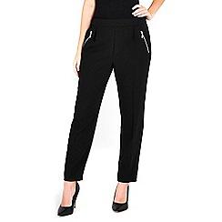 Wallis - Petite black pull on jogger trouser
