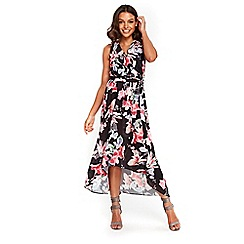 Wallis - Petite black floral maxi dress