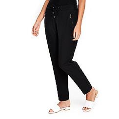 Wallis - Petite black jogger trousers