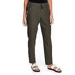 Wallis - Petite khaki jogger trousers