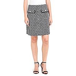 Wallis - Petite monochrome jacquard skirt