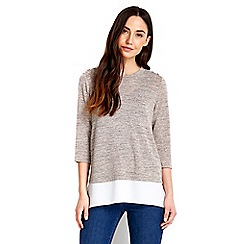 Wallis - Petite stone button 2in1 top