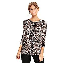 Wallis - Neutral animal print jumper