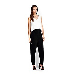 Wallis - Petite black and white jumpsuit