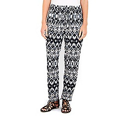 Wallis - Petite neutral tribal trouser
