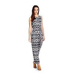 Wallis - Petite neutral tribal jumpsuit