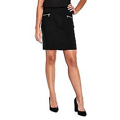 Wallis - Petite zip pocket skirt