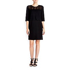 Wallis - Petite black lace shift dress