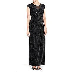 Wallis - Petite sparkle wrap maxi dress