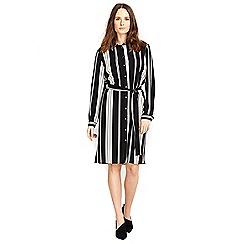 Wallis - Petite mono stripe shirt dress