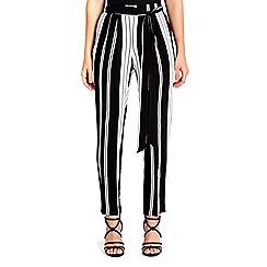 Wallis - Petite mono stripe jogger trouser