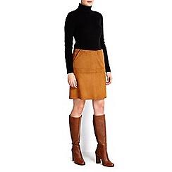 Wallis - Petite tan suedette skirt