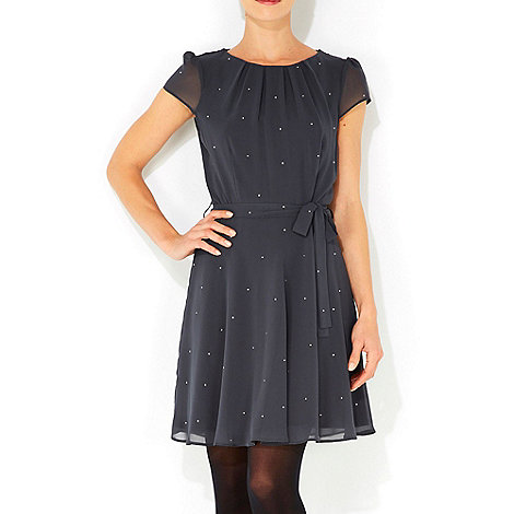 Wallis - Grey diamante petite dress