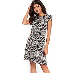 Wallis - Petite tribal geometric swing dress