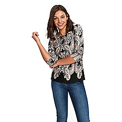 Wallis - Petite stone paisley print border shell top