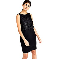 Wallis - Petite black crochet top dress
