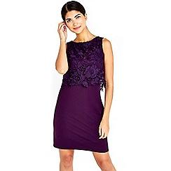 Wallis - Petite purple crochet dress
